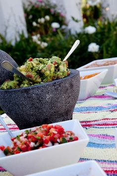 A molcajete is great for making guacamole, salsa, hummus, dressing and more