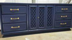 Navy Blue Dresser Credenza