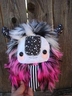 cute monster plush, stuffed Yeti. $25.00, via Etsy.
