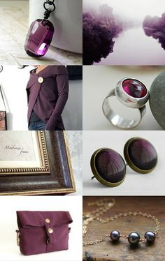 Aubergine jewels and gems