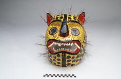 Nahua [Acatlan] Mask worn by jaguar dancer during the Rain Ceremony 2000 Acatlán; Chilapa de Alvarez Municipality; Guerrero State; Mexico