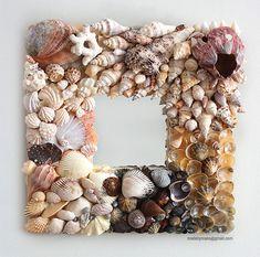 Handmade seashell mirror inspired by the coastline por madebymano