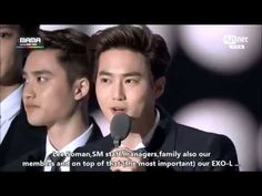 [ENG SUB] 141203 EXO MAMA 2014 BEST MALE GROUP SPEECH