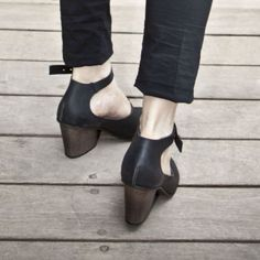 black casual heels