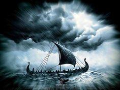 Drakkar on a rough sea by thecasperart on DeviantArt – Norse Mythology-Vikings-Tattoo Viking Life, Viking Art, Viking Warrior, Viking Woman, Viking Pictures, Cool Pictures, Viking Tattoos, Viking Tattoo Design, Viking Ship Tattoo
