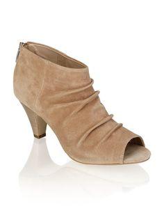 Gamloong Veloursleder-Peep Toe - beige - Gratis Versand   Schuhe   Peep Toes   Online Shop   1341512486