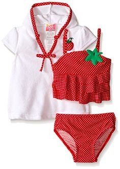 71cecc2e2a622 Sol Swim Baby Strawberry Doll Swimsuit with Terry Cover Up