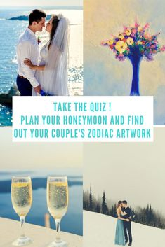 Take The QUIZ! Find out what your couple's zodiac element is. Answer questions about what kind of honeymoon you would like and get some cool wedding planning ideas! Unique Wedding Gifts, Personalized Wedding Gifts, Unique Weddings, Miami Wedding Venues, Luxury Wedding Venues, Destination Wedding, Will Ferrell Wedding Crashers, Honeymoon Spots, Honeymoon Ideas