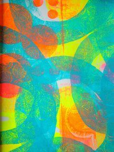 What's new: monoprints! Henriette Pepentenga