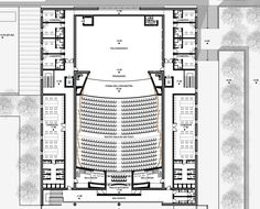 Teatro Cittadino – Picture gallery View full picture gallery of City Theater Auditorium Design, Auditorium Plan, Auditorium Architecture, Theatre Architecture, University Architecture, Plans Architecture, Cultural Architecture, Tropical Architecture, Bubble Diagram Architecture