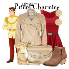 """""""Prince Charming"""" by tallybow ❤ liked on Polyvore featuring moda, Disney, River Island, H&M y Chloé"""