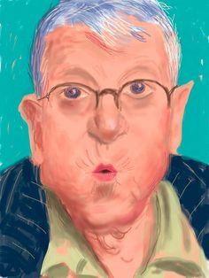 David Hockney<br/> English Self-portrait, 25 March No. 2 iPad drawing<br/> Collection of the artist<br/> © David Hockney David Hockney Tate, David Hockney Artist, David Hockney Paintings, Louisiana Museum, Pop Art Movement, Walker Art, Warhol, Museum Of Modern Art, Art
