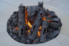 Small Steel Log for Gas Fires - Ideal for Small Table Top Firepits Outdoor Gas Fireplace, Gas Fireplace Logs, Gas Fireplaces, Gas Fire Logs, Gas Fires, What Is Steel, Colorado Landscaping, My Settings, Fire Ring