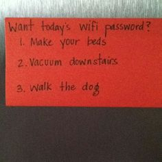 Want today's wifi password?  Too funny