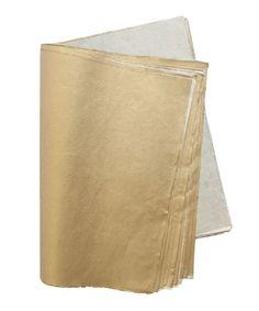 "EXTRA SMALL /""WHITE GOLD/"" METALLIC PAPER GIFT BAGS PK OF 10 HANDMADE"