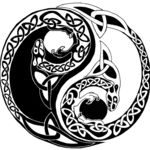 I wanted to combine two cultures the elaborate Celtic designs along with the simple Chinese Yin and Yang. spur of the moment drawing. Arte Yin Yang, Ying Y Yang, Yin Yang Art, Yin Yang Tattoos, Celtic Symbols, Celtic Art, Celtic Knots, Celtic Mandala, Tattoo Ideas