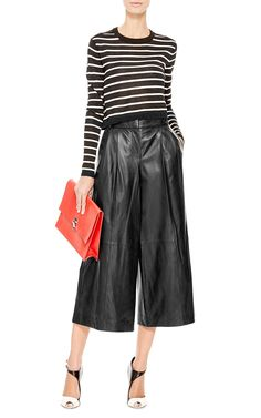 ba57cf8aa36f1 Leather Pleated Wide-Leg Pants by Tibi - Moda Operandi Leather Culottes,  Leather Pants