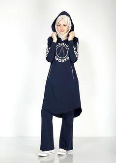Tesettür Eşofman Modelleri - // #tesettüreşofmanmodası #tesettüreşofmanmodelleri Fashion Wear, Sport Fashion, Modest Fashion, Hijab Fashion, Fashion Outfits, Hijab Sport, Sports Hijab, Sporty Outfits, Sporty Style