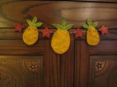 Primitive Pineapple Garland Pineapple Garland with by ThisOldFence