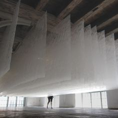 WhiteOut by SpaceOperaForm - Dezeen. Reacts to the static charge of visitors, making the experience different for every user