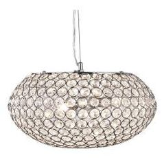 Searchlight Chantilly 3 Light Pendant Ceiling Light, Polished Chrome Finish With Clear Crystal Buttons - - Pendant Lights - Crystal Pendant Lights 3 Light Pendant, Ceiling Lights, Ceiling Pendant Lights, Crystal Chandelier, Pendant Lamp, Crystal Decor, Light Fittings, Pendant Light, Globe Pendant Light