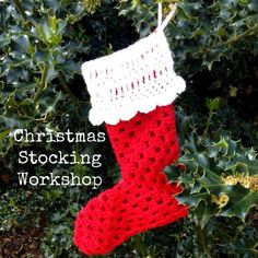 Workshop - Crochet Christmas Stocking by The Haby Goddess