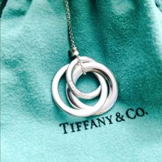 "Tiffany 1837 interlocking circles pendant necklace NWOT - received as a gift. Worn once or twice. Comes with the pouch pictured. This is the small version on a 18"" chain. Authentic Tiffany's. Tiffany & Co. Jewelry Necklaces"