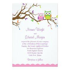 Owl Wedding Invitations Cute Owl Wedding Invitation
