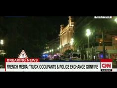 Breaking News -- A truck drove on to the sidewalk and plowed through a crowd of Bastille Day revelers who'd gathered to watch fireworks in the French resort . Bastille Day, Nice France, Crowd, Police, Portuguese Food, Trucks, French, Youtube, French People