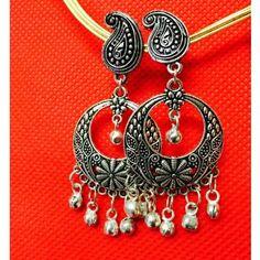 8d4cb883896 Buy Bohemian Oxidized German silver chandelier eardrops Online in India -  101800475- ShopClues.com