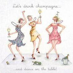 Cards » Lets Drink Champagne » Lets Drink Champagne - Berni Parker Designs