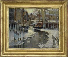 "Lot 1012. FREDERICK JOHN MULHAUPT (American, 1871-1938) ""THE ICE-BREAKER'S PATH"" (27305)"
