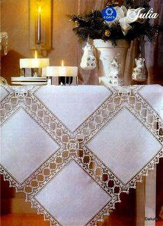 Crochet Neckwarmer - Learn How To Croch 319 - Diy Crafts - Marecipe Crochet Quilt, Crochet Tablecloth, Linen Tablecloth, Thread Crochet, Filet Crochet, Crochet Doilies, Diy Crafts Knitting, Diy Crafts Crochet, Crochet Home Decor