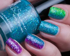 ChitChatNails » Blog Archive » KBShimmer Textured Rainbow