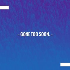 Gone too soon. https://cyberdayze.wordpress.com/2018/04/07/gone-too-soon-2/