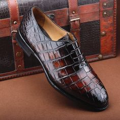 Genuine crocodile leather shoes and alligator leather shoes for men