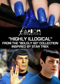 Fandom Cosmetics - Highly Illogical, Inspired by Star Trek, $8.95 (http://www.fandomcosmetics.com/highly-illogical-inspired-by-star-trek/)