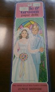 Bride and Groom paper dolls 1979 box
