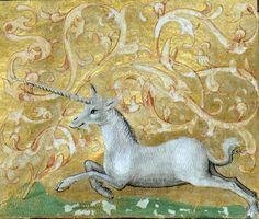 galloping unicorn Brunetto Latini, Li Livres dou Trésor, Rouen ca. 1450-1480 Bibliothèque de Genève, Ms. fr. 160, fol. 82r