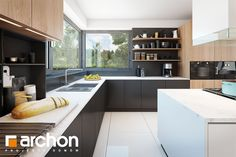 Dom w felicjach House design House in felices - ARCHON + Kitchen Island, Kitchen Cabinets, House Design, Table, Inspiration, Home Decor, Interior Ideas, Future, Houses