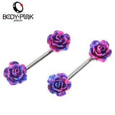 BODY PUNK  Fresh Summer Style Daisy Nipple Barbell Piercing Sexy Bar Rings Jewelry Creative Punk Body Jewellery Women Gift 2 Pcs-in Body Jewelry from Jewelry & Accessories on Aliexpress.com | Alibaba Group
