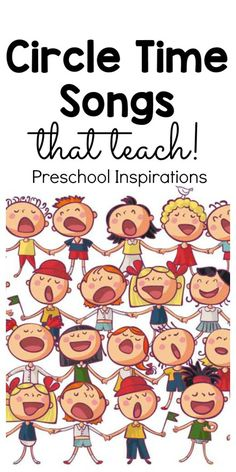 Preschool Songs for Circle Time - Preschool Inspirations - Hands-On Preschool Activities - Use circle time songs to teach the alphabet, days of the week, months of the year, planets, and mor - Kindergarten Songs, Preschool Songs, Preschool Lessons, Preschool Classroom, Preschool Learning, Kids Songs, Preschool Activities, Circle Time Ideas For Preschool, Classroom Chants