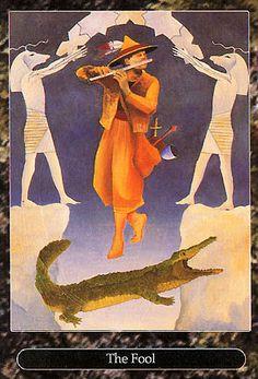The Fool - Universal Tarot by Maxwell Miller - Rozamira Tarot - Picasa Web Albums Sacred Art Tattoo, Tarot The Fool, Joker, Love Tarot, Tarot Major Arcana, Oracle Cards, Tarot Decks, Rock Art, The Magicians
