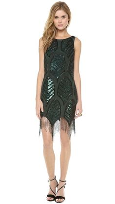 Updated 1920s party outfit! Haute Hippie Embellished Cocktail Dress