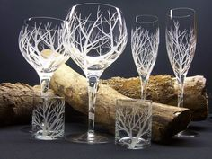 Day Dream Designs: Hand engraved glasses.  Neat!