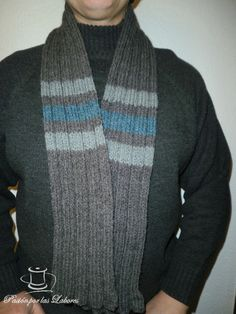 Bufanda para hombres (tricot)