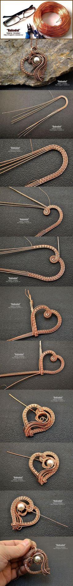 Wire Wrap Pendant - magazin-rukodel.ru/... #wirewrappedjewelry