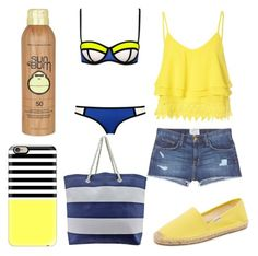 Fun in The Sun by cmankin on Polyvore featuring polyvore fashion style Glamorous Current/Elliott Soludos Casetify Sun Bum clothing