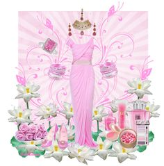 """""""The Colors: Pink Lace"""" by fiordiluna on Polyvore"""