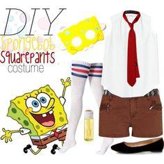 Here's my DIY Halloween costume. Spongebob Halloween Costume, Family Halloween Costumes, Halloween Diy, Spongebob Costumes, Unicorn Halloween, Halloween 2018, Diy Girls Costumes, Purim Costumes, Cool Costumes